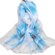 Women Soft Thin Chiffon Silk Ninasill Scarf,16050CM