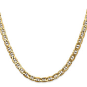 14K Yellow Gold 5.85MM Semi-Solid Anchor Link Bracelet