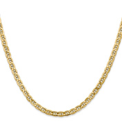 14K Yellow Gold 4.10MM Semi-Solid Anchor Link Bracelet