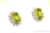 Birthstone Earrings Sterling Silver or Yellow Gold Plated Silver