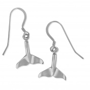 Sterling Silver Whale Tail Dangle Earrings