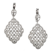 D'sire 18k White Gold Diamond (TDW 6.193 carats) Dangle Earrings