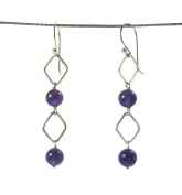 Alternating .925 Sterling Silver Boxes and Spheres of Amethyst