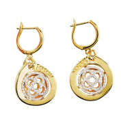 D'sire 18k Yellow Gold Diamond (TDW 0.654 carats) Dangle Earrings