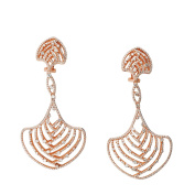 D'sire 18k Rose Gold Diamond (TDW 4.237 carats) Dangle Earrings
