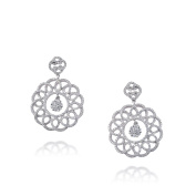 D'sire 18k White Gold Diamond (TDW 2.064 carats) Dangle Earrings