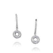 D'sire 18k White Gold Diamond (TDW 0.299 carats) Dangle Earrings