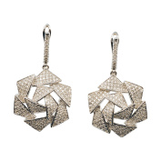 D'sire 18k White Gold Diamond (TDW 1.238 carats) Dangle Earrings