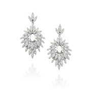 D'sire 18k White Gold Diamond (TDW 2.173 carats) Dangle Earrings