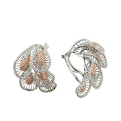 D'sire 18k Rose and White Gold Diamond (TDW 3.314 carats) Hoop Earrings