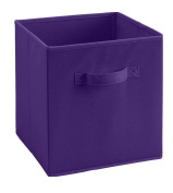 XHSP Home Storage Cubes Foldable Non-woven Fabric Large Box Containers Drawers Set No cover 10.68x 10.170cm x 28cm 20L Purple