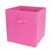 XHSP Home Storage Cubes Foldable Non-woven Fabric Large Box Containers Drawers Set No cover 10.68x 10.170cm x 28cm 20L Rose red