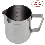 Autoark AH-001 Durable 18/8 Gauge Stainless Steel Steaming Frothing Pitcher for Espresso Machines,Milk Frothers & Latte Art,590ml
