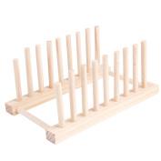 Wooden Detachable 8 Sub-grid Dish Racks Kitchen Storage Holder 2 Packs
