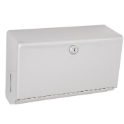 Bobrick B-26212 Stainless Steel Surface Mounted Paper Towel Dispenser - 200 C-Fold Towel Capacity