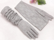 Top Estore Women Summer Outdoor Lace Sun Sleeve UV Protection Driving Arm Finger Glove