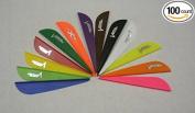 VaneTec V-Maxx Plastic Arrow Vanes 10cm Orange Pkg/100