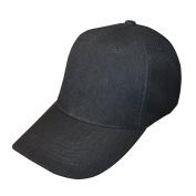 Plain Black Adjustable Baseball Cap