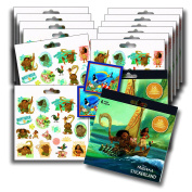 DISNEY MOANA Stickers Party Favours - Bundle of 2 Sticker Packs - 12 Sheets 240+ Stickers plus 2 Specialty Stickers!