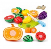 Rukiwa 20PC Cutting Fruit Vegetable Pretend Play Toy For Children