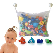 Baby Todder Bath Tub Toys Organiser Bag with Suction Cups by Grocery House