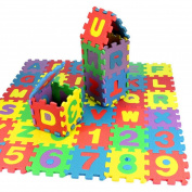 .  Canserin 36Pcs Baby Child Foam Number Alphabet Puzzle Toys Maths Educational Toy Gift Mat