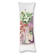 Yiuejiu Watercolour Table Body Pillow Cover Decorative Pillowcase 50cm x 140cm