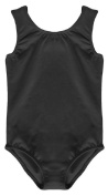 GIRL'S BLACK COTTON STRETCHY SLEEVELESS LEOTARDS DANCE / GYM / BALLET / SPORTS - LOTS COLOUR & SIZES ...