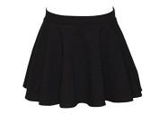 Ladies Girls Black Cotton Pull On Circular Dance Ballet Skirt KDSKC03 By Katz Dancewear