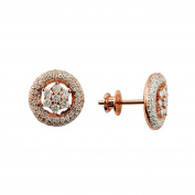 D'sire 18k Rose Gold Diamond (TDW 0.940 carats) Stud Earrings