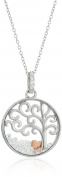 Hallmark Jewellery Sterling Silver Tree of Life Shaker Pendant Necklace