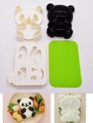 Rice Ball Mould, KOOTIPS Bento Accessories Rice Ball Mould Onigiri Shaper and Dry Roasted Seaweed Cutter Set, Baby Bear