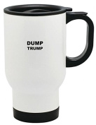 Dump Trump Print 410ml Stainless Travel Mug by LE Prints