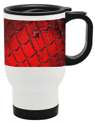 Spider Web Print 410ml Stainless Travel Mug by LE Prints