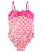 Oshkosh Fish Print Swimsuit; Pink