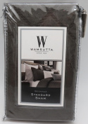 Wamsutta Standard Pillow Sham from the Beekman Collection in Smoke Colour