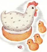 Vintage Crochet PATTERN to make - Barn Chicken Hen Chicks Stuffed Animal Soft Toy. NOT a finished item. This is a pattern and/or instructions to make the item only.
