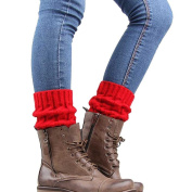 FEITONG Knitted Leg Warmers Socks Boot Cover