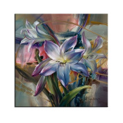 Arts Language Wooden Framed 41cm x 50cm Paint by Numbers Diy Painting Flower Lily