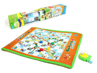 Snakes and Ladders set perfect play with folding game board, pegs and dice- makes an excellent gift for ages 3+