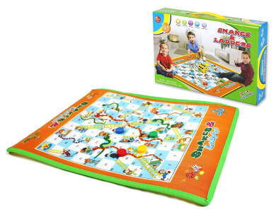 Snakes and Ladders board game is a luxury set especially for 3+ preschoolers fun play time