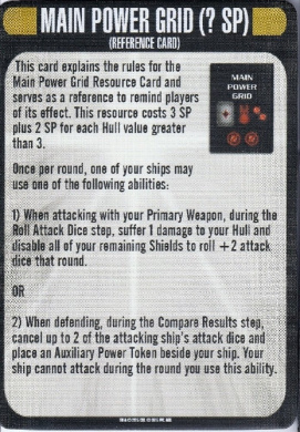 Star Trek Attack Wing Temporal Cold War Main Power Grid Card