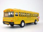 13cm Long Yellow School Bus Diecast Metal Model