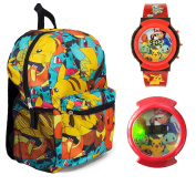 Pokemon 41cm All Over Print Backpack with Flashing Watch - Kids