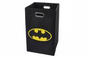 Batman Logo Folding Laundry Basket, Black