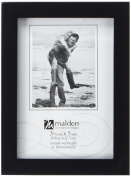 Malden International Designs Black Concept Wood Picture Frame, 8x12, Black