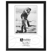 Malden International Designs Black Concept Wood Picture Frame, 8x10, Black