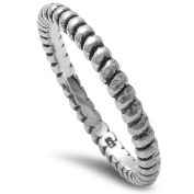 Plain Design Oxidise .925 Sterling Silver Band