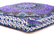 Indian Psychedelic Elephant Mandala Floor Pillow Square Ottoman Pouffe Daybed Oversized Cushion Cover Outdoor Sofa Throw Large Floor Pillows 8980cm