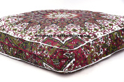 Psychedelic Star Mandala Floor Pillow Indian Tapestry Meditation Cushion Cover Square Ottoman Pouffes Daybed Oversized 90cm